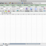 Microsoft Excel 2011 Interface