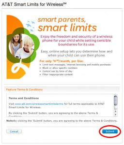 Smart Limits Terms and Conditions Click Submit