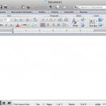 Microsoft Word 2011 Interface