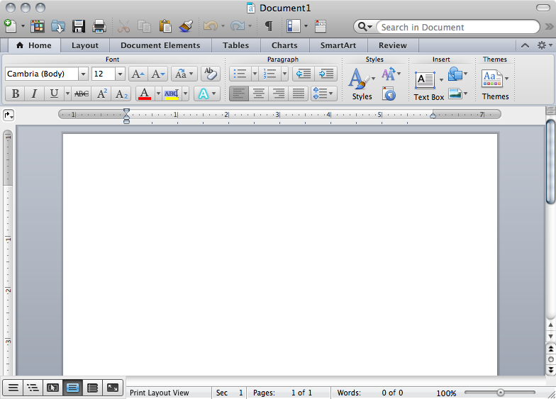 microsoft word 2011 interface