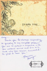 Avery J - Thank You Card